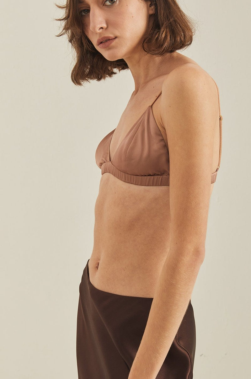 Celyn Soft Bra - Coffee