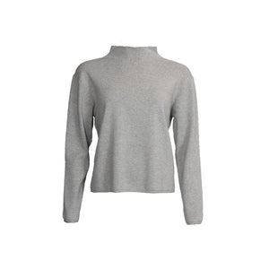 Frigga Highneck Knit - light Grey melange