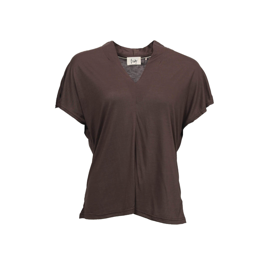 Henny T-Shirt - Dark brown