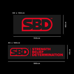 SBD Banner Blache Gym Masse Strength Belief Determination
