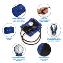 Load image into Gallery viewer, Manual Blood Pressure Cuff - Dark Blue