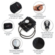 Load image into Gallery viewer, Manual Blood Pressure Cuff - Black