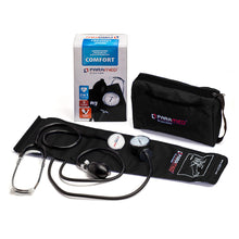 Load image into Gallery viewer, Manual blood pressure cuff kit with stethoscope  – Black