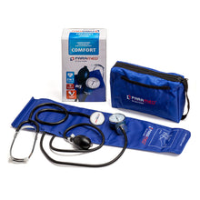 Load image into Gallery viewer, Manual blood pressure cuff kit with stethoscope  – Blue