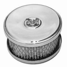 "2bbl Chrome 4"" x 2-7/8"" Dish Style Air Cleaner / Luftrenare"