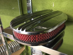 Air cleaner, Center Finned / Luftrenare Alu 12x2""