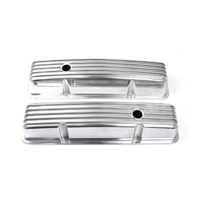 Valve Covers - Tall finned with holes for early Chevy / Ventilkåpor CSB