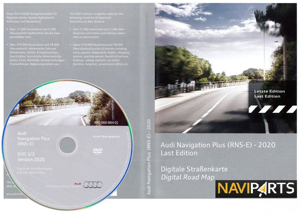 DVD navigations software Audi Rns-E 2020