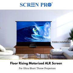 SCREENPRO ALR Floor Rising Motorised Screen - Ambient Light Rejection