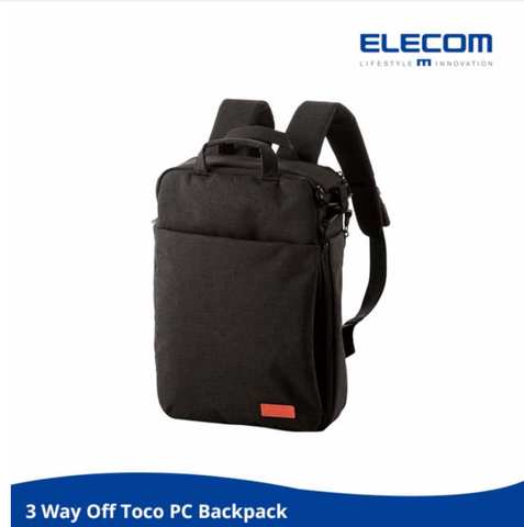 ELECOM 'OFF TOCO OF01 BP' 3-Way Back Pack (Black)
