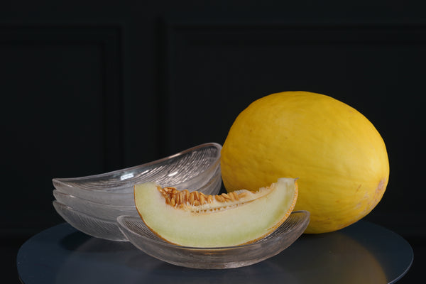 Set of Four Glass Melon Bowls