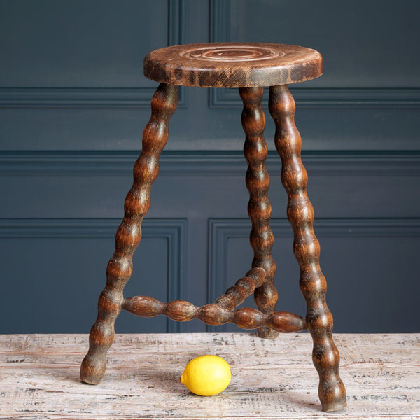 Tall Wooden Milking Stool