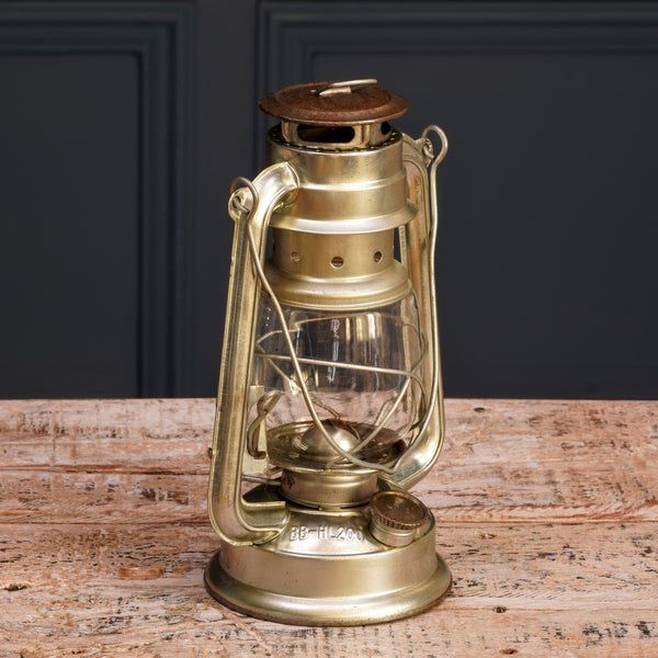 Small Silver Metal Hurricane Lamp
