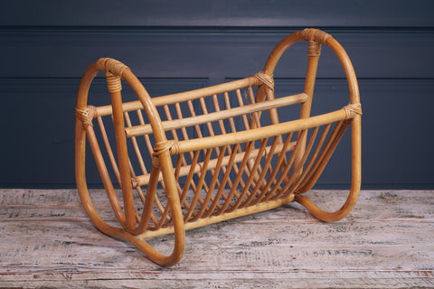 Pale Bamboo Magazine Rack