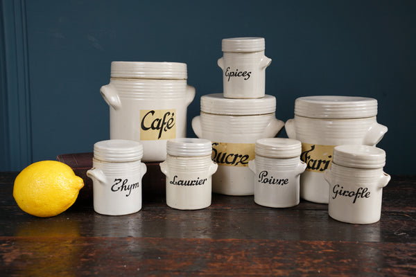 Eight Ceramic Storage Jars