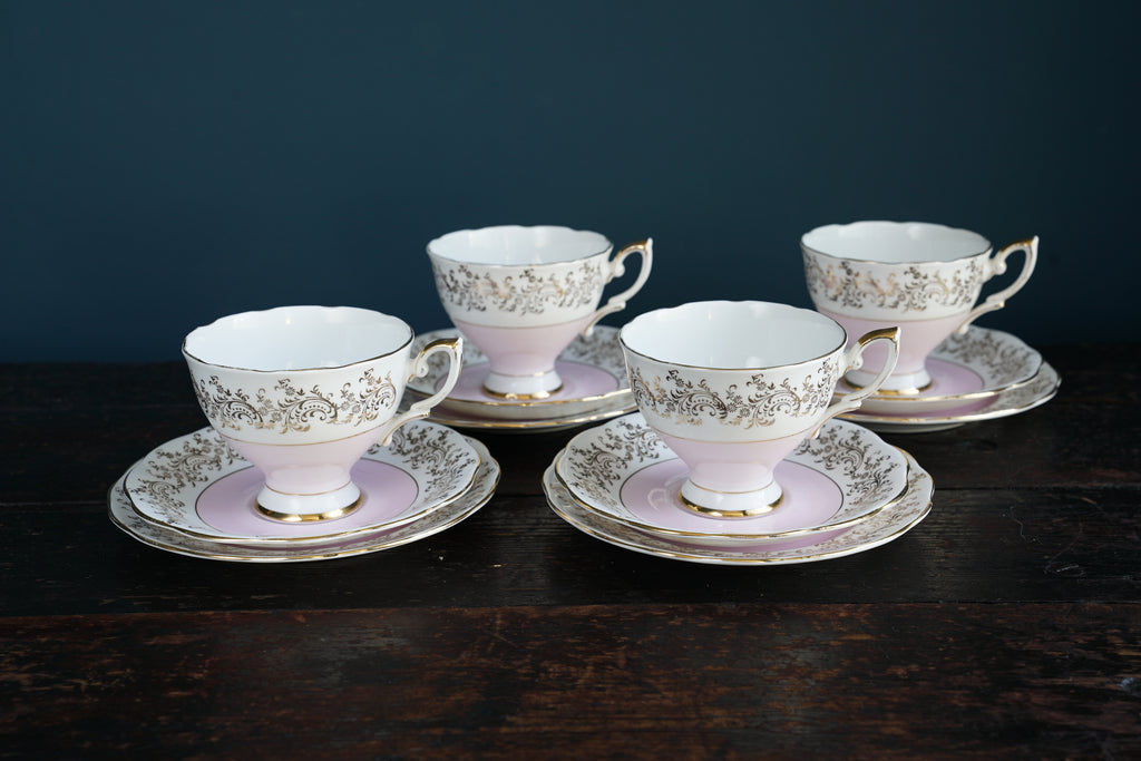 ... Pink Tea Cup Saucer and Side Plate Set ... & Pink Tea Cup Saucer and Side Plate Set \u2013 Vitrine3