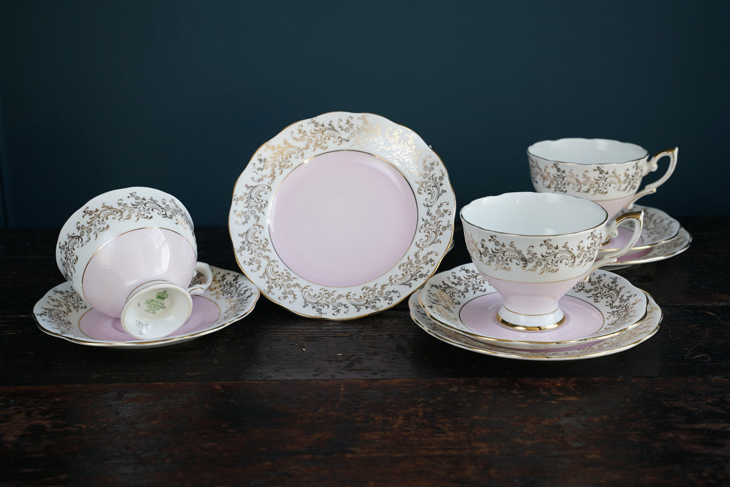 Pink Tea Cup Saucer and Side Plate Set ... & Pink Tea Cup Saucer and Side Plate Set u2013 Vitrine3