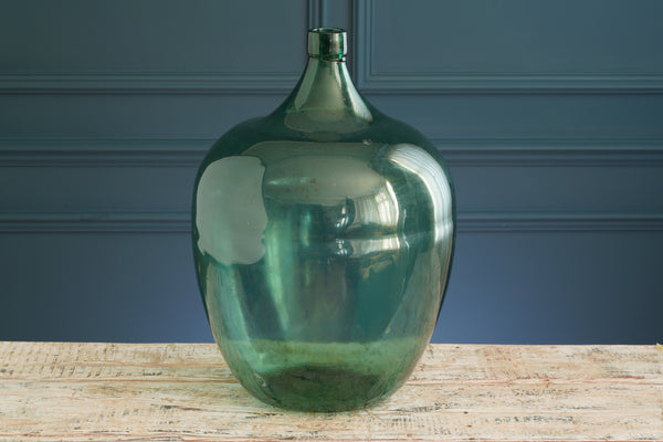 Large Green Glass Carboy