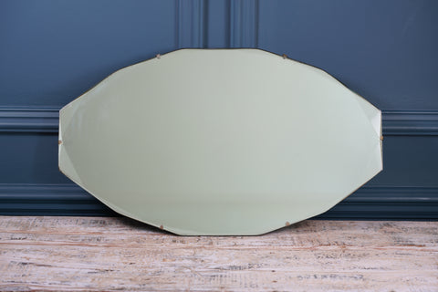 Oval Angled Bevelled Mirror