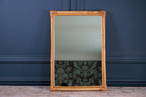 1970's Bamboo Rectangular Mirror