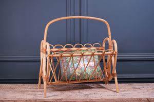 Pale Delicate Bamboo Magazine Rack