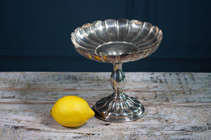 Silver Scalloped Edge Serving Dish