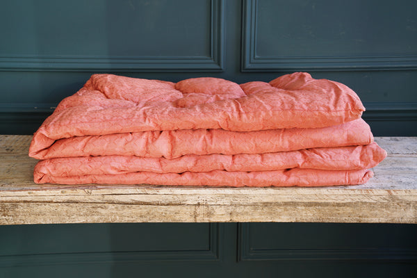 1950's Rose Pink Cotton Single Eiderdown