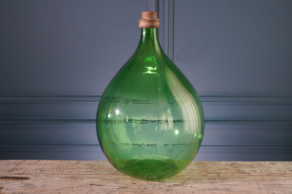 Extra Large Green Glass Carboy with Metal Lip