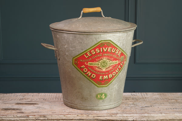 Galvanized Zinc Bucket with Lid