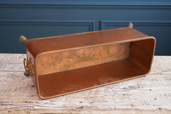 Copper Bain Marie with Lion Heads