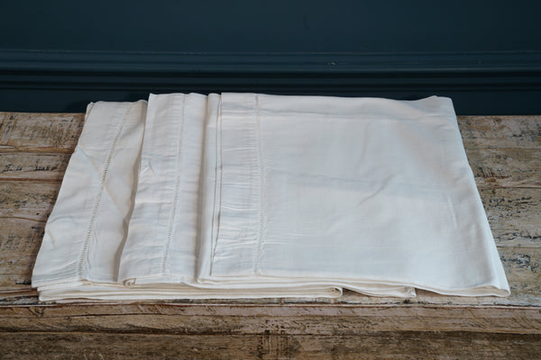 Three White Cotton Bolster Pillowcase