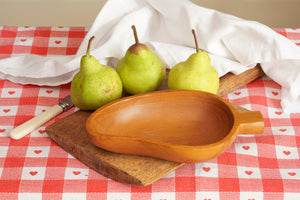 Wooden Pear Serving Dish