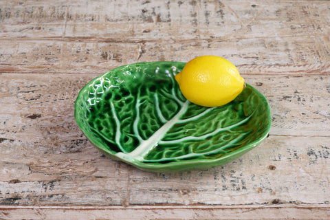 Bright Green Mini Cabbage Serving Plate