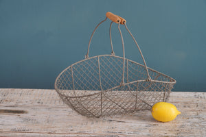 Grey Metal Wire Basket