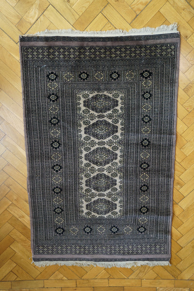 Blue and Grey Persian Style Handwoven Vintage Rug