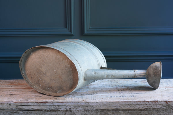 Galvanised Metal Watering Can with Spout