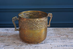 Brass Detailed Ice Bucket with Handles