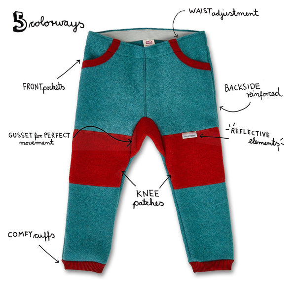 Kids Boiled Wool Pants (organic wool GOTS)
