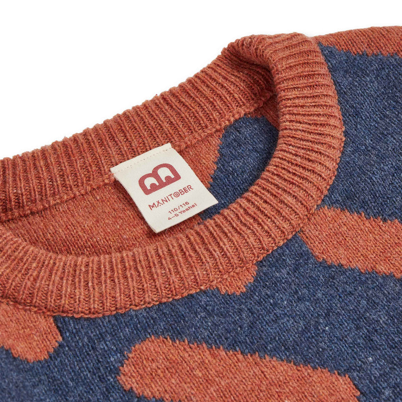 Grown-Ups Multicolor Knit Sweater (recycled wool) -Manitober-nachhaltige-Kinderbekleidung-Bio-Baumwolle