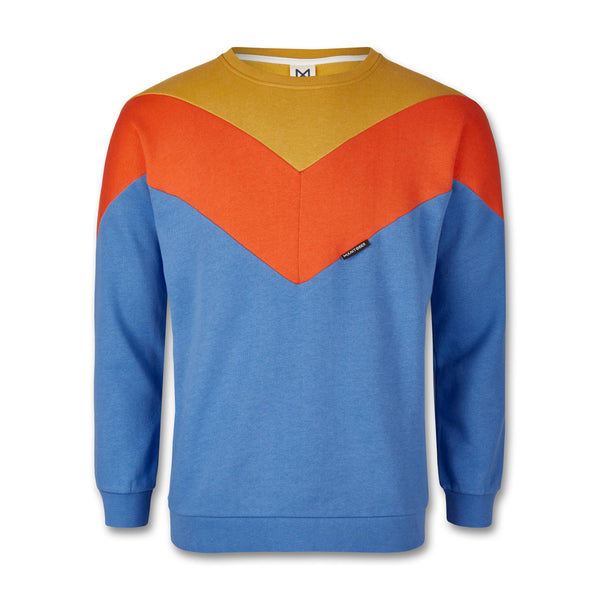 Grown-Ups Cut & Sew Sweatshirt (Organic Cotton) Blue/Khaki/Orange -Manitober-nachhaltige-Kinderbekleidung-Bio-Baumwolle