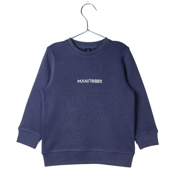 Kids Basic Sweatshirt Navy (Organic Cotton)