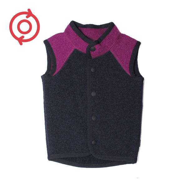 *Refurbished* Kids boiled wool Vest (Organic Wool)