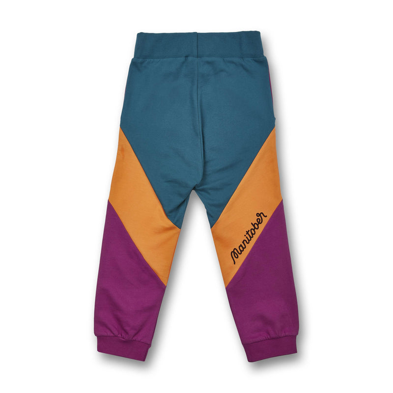 Kids Cut & Sew Jogging Pants (organic cotton) Green/Orange/Berry -Manitober-nachhaltige-Kinderbekleidung-Bio-Baumwolle