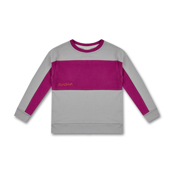 Manitober Kinder inside out Sweater Bio-Baumwolle grau