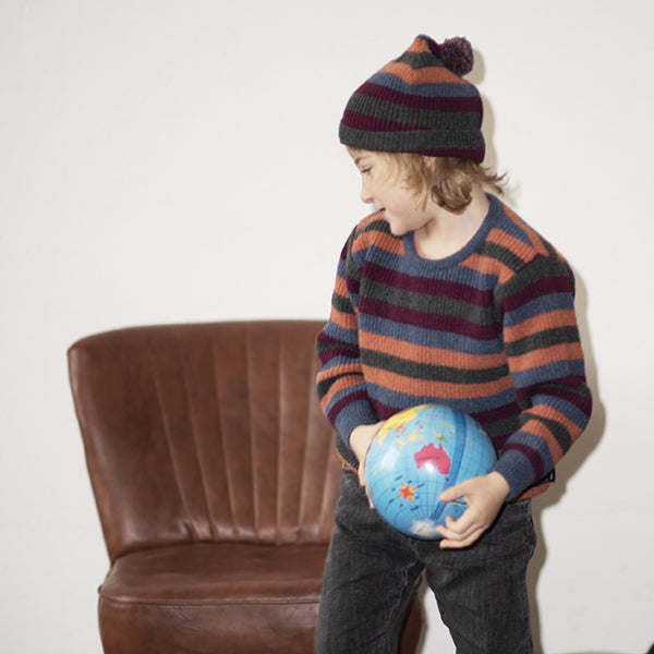 Kids Bommel Beanie (recycled wool) - Manitober