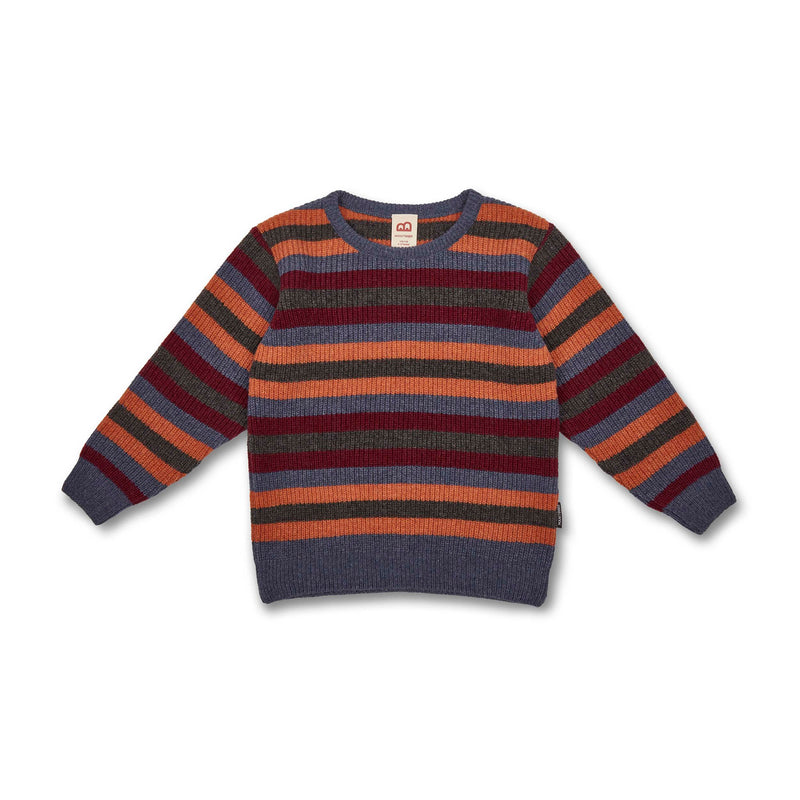 Kids Striped Knit Sweater (recycled wool) -Manitober-nachhaltige-Kinderbekleidung-Bio-Baumwolle