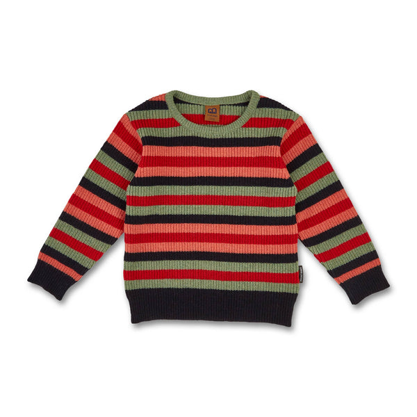 Kids Striped Knit Sweatshirt (recycled wool)