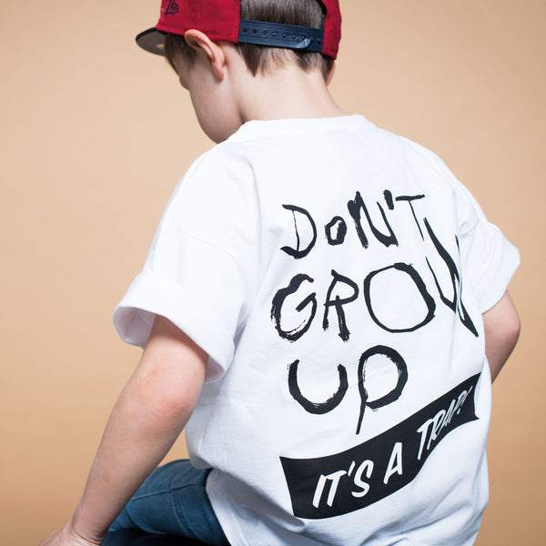 Kids Don't Grow up Relaxed T-Shirt (organic cotton) -Manitober-nachhaltige-Kinderbekleidung-Bio-Baumwolle
