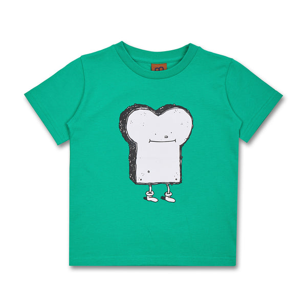 Kids Toast T-Shirt Green (Organic Cotton)