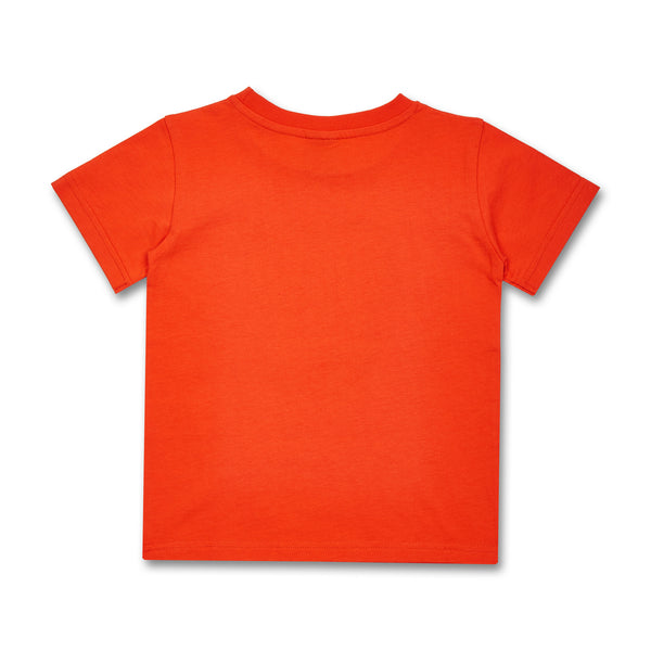 Kinder T-Shirt Cleptomanicx Toast Bio-Baumwolle orange hinten